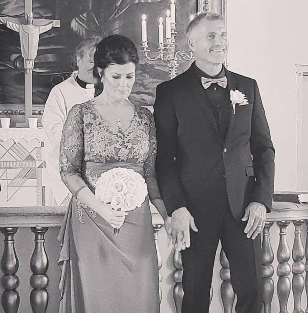 Svartvit bröllop